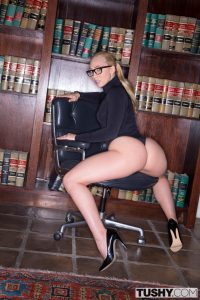 Tushy Aj Applegate in Curvy Secretary Punished by Her Boss with Christian Clay 3