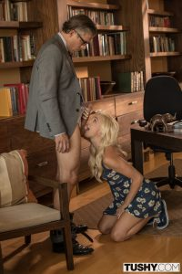 Tushy Eliza Jane in Naughty Blonde takes Anal Punishment from Mick Blue 5