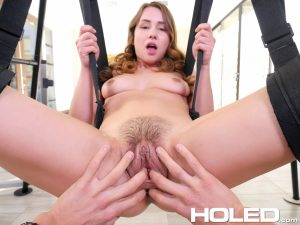Holed Taylor Sands in Anal Sex Swing 8